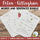 Orton-Gillingham Resources Level 1-5 Word Lists Multisenso