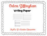 Orton Gillingham Writing Paper