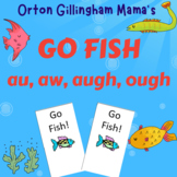 Orton Gillingham Games- Go Fish: au, aw, augh, ough- Fun with Phonics