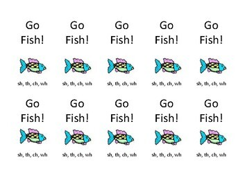"Orton Gillingham Digraphs ""h brothers"" Go Fish card game"
