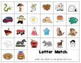 Orton Gillingham letter matching sheet
