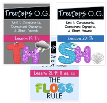 Orton Gillingham sh,th and the doubling rule (ff,ss,ll,zz)
