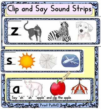 Orton Gillingham-style Phonetic Awareness: Clip and Say + Initial Sound Cards
