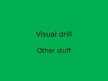 Orton Gillingham visual drill other stuff