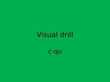 Orton Gillingham visual drills ppt c-qu