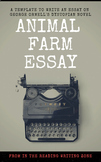 """Orwell's """"Animal Farm"""" Essay Template: Learning to Write the Literary Essay"""