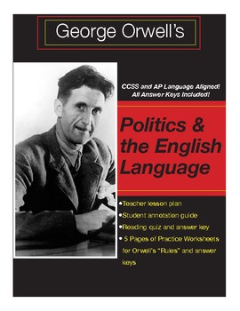 orwells politics and the english language reading guide quiz  practice orwells politics and the english language reading guide quiz  practice