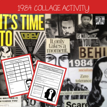 Orwell's 1984, Collage Assignment, High School ELA