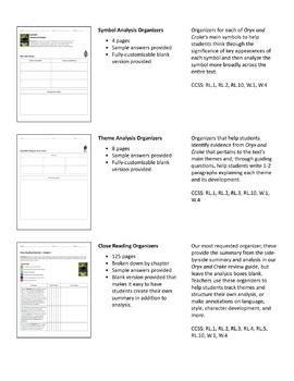 Oryx and Crake – Comprehension and Analysis Bundle