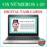Os Números 1-20: Portuguese Numbers BOOM CARDS (Digital Task Cards)