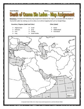 Osama bin Laden Death - Reading, Questions, Map and Writing Assignment