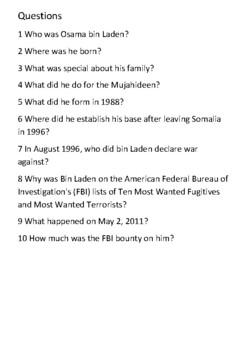 Osama bin Laden Handout