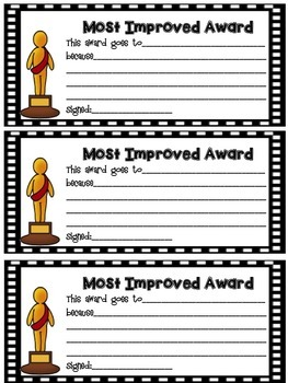 Oscar Awards Pack: Year Round Classroom Management & Award Night