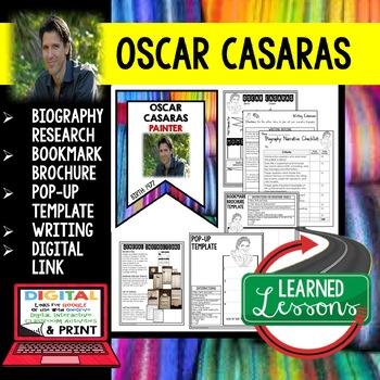 Oscar Casaras Biography Research, Bookmark Brochure, Pop-Up, Writing