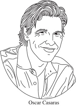 Oscar Casaras Realistic Clip Art, Coloring Page, and Poster