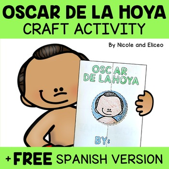 Hispanic Heritage Craft - Oscar De La Hoya Activity