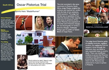 Oscar Pistorius - Sports Star - South Africa Murder Trial - FREE POSTER