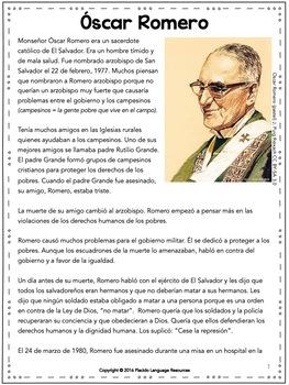 Oscar Romero Reading (accompanies film Romero)