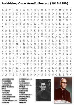 Oscar Romero Word Search