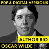 Oscar Wilde Author Study Worksheet, Easy Biography Activity, CCSS