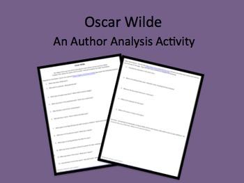 Oscar Wilde Internet Scavenger Hunt & Reading Comparison Activity