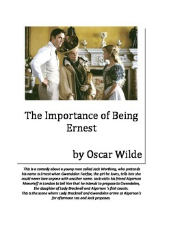 Grade 7/8 English - Oscar Wilde Lesson Plan - Importance of Being Ernest