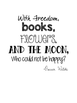 Oscar Wilde Quote Poster