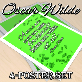 """Oscar Wilde Quotes 8.5x11"""" Poster 4-Pack"""
