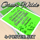 "Oscar Wilde Quotes 8.5x11"" Poster 4-Pack"