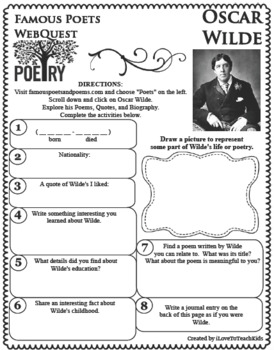 Oscar Wilde - WEBQUEST for Poetry - Famous Poet