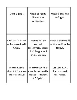 Oscar et la dame rose   Card Sort Lettres 5-10