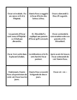 Oscar et la dame rose | Lettres 1-4 Card Sort