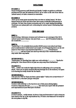 Oscars Graduation Assembly Script