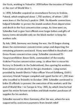 Oskar Schindler Handout