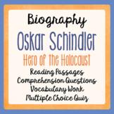 Oskar Schindler Hero of the Holocaust Grades 5-7 Informational Texts, Activities