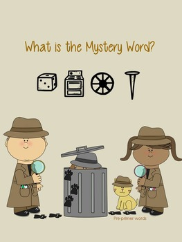 Osmo-Pre-Primer Dolch Mystery Word Game