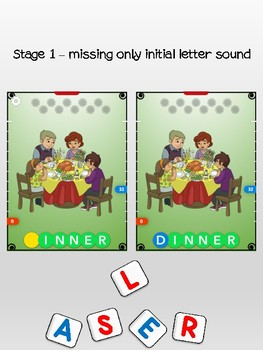 Thanksgiving - Initial letter sounds