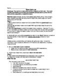 Osmosis/ Diffusion Inquiry Lab