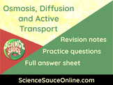 Osmosis, Diffusion and Active Transport - Handout and prac