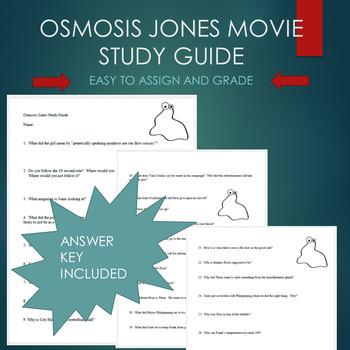 Osmosis Jones Movie Study Guide