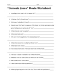 Osmosis Jones Movie Worksheet with KEY