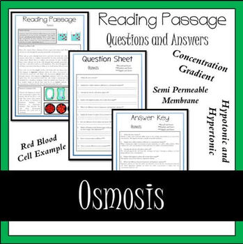 Osmosis Reading Passage