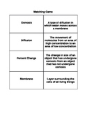 Osmosis and Diffusion Matching Game