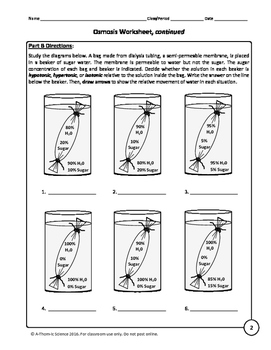 osmosis and tonicity worksheet by a thom ic science tpt. Black Bedroom Furniture Sets. Home Design Ideas