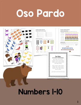 Oso Pardo: Numbers 1-10 in Spanish