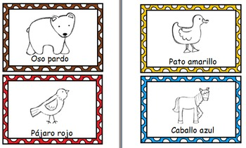 Oso pardo (Brown Bear)- Spanish character flashcards, memory matching, & visuals
