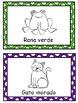 Oso pardo (Brown Bear)- Spanish character flashcards, memory matching, & visuals