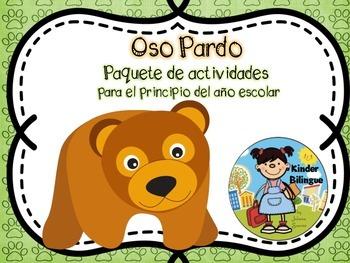 Oso pardo (Paquete de actividades) Brown bear in Spanish