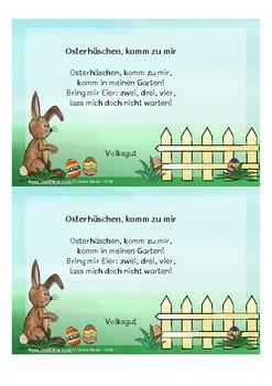 Oster Gedichte und Schreibblätter zu Ostern