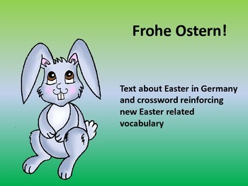 Ostern in Deutschland (Easter in Germany) - Vocabulary, text and crossword A1 A2